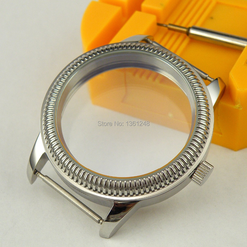 44mm Watch vintage CASE stainless steel fit 6498 6497 eat movement C07<br>