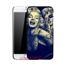 Coque Skull Marilyn Monroe Hard Case for iPhone 7 6 6S Plus 5S SE 5C 5 4S 4 Cover