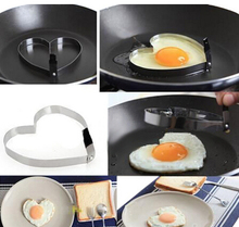 Cook Fried Egg Pancake Stainless Steel Heart Shaper Mould Mold Kitchen Tool Rings sbattitore uova ovo separador B017(China)