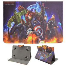 "Marvel Avengers Super Heroes Captain America 3 Civil War Universal Leather Case Cover for HP 10 G2 2301 10.1"" Tablet Android 5.0"