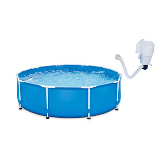 Swimming Pool With Filter Pump Holds Up 1,100 Gallons of Water (1)