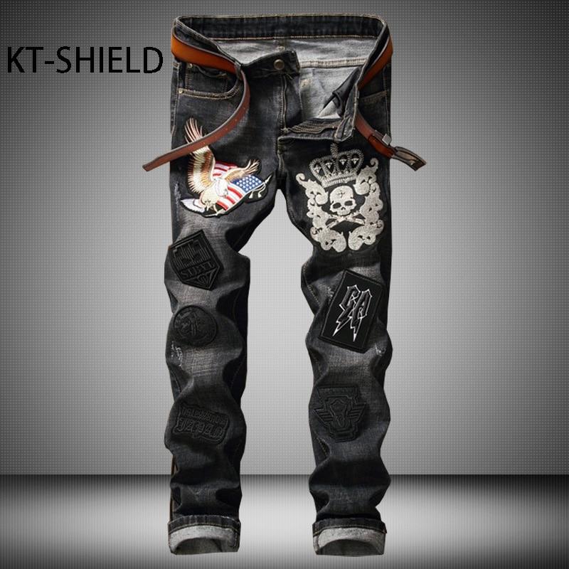 Black Jeans Men Biker Ripped Hip Hop Casual man Denim Pants trousers Slim Fashion full length Cotton Masculina Pantalones HombreÎäåæäà è àêñåññóàðû<br><br>