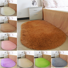 HOT 1Pcs Bathroom Carpets Oval Absorbent Soft Memory carpets for living room tapis salon Floor Rugs Non-slip Bath Mats