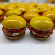 17*15mm Free Shipping!Resin Cute Big Mac hamburger,Resin FlatBack Cabochon for Decoration, DIY,Simulation food(China)