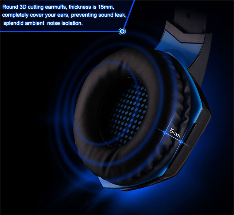 Best casque Computer Stereo Gaming Headphones Deep Bass Game Earphone Headset Gamer with Microphone Mic LED Light for PC Game
