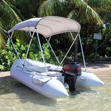 PVC/CE/OEM Inflatable Boat With Sunshade for two person