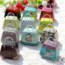6 Pcs/Lot  Handbags / Mini Candy Box / Creative Wedding Favor Boxes Gift Tin Box With Lids Candy Earphone Ring Boxes