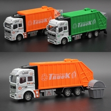 Brand New Large Plastic Toy Garbage Truck Clean Car Sanitation Trash Trucks Alloy Car Model Christmas Gift For Childs Kids Boy