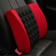 Car cushion cushion electric massage waist waist breathable cotton memory driver back waist pillow auto supplies