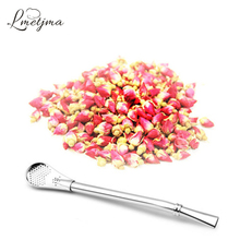 LMETJMA Stainless Steel Filtering Drink Straw Spoon Strainer Spoon For Tea Filter Milkshakes Soup Kitchen Accessories PY0064(China)