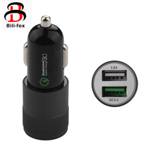 Bili-Fox Car Charger 5V 3.0A Quick Charge QC3.0 Car-Charger Fast Dual USB Port Universal Car Chargers For Mobile Phone(China)