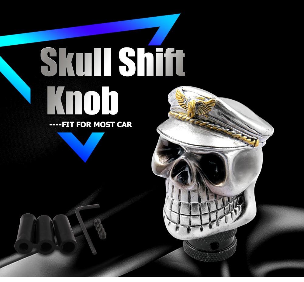 Daanu Skull Gear Stick Shifter Skull Shift Lever Knob fit Universal Manual Atomatic