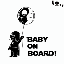 Classic Film Star Wars Car Sticker Creative Baby On Board Warning Sign Vinyl Car Decal