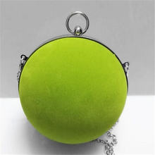 Lovely small round ball clutch bag gown evening bag show field hand bag chain crossbody bags for women purses handbags wallet