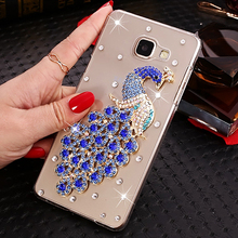 Buy Luxury Bling bling Peacock Rhinestone Clear hard plastic Smile Case Samsung Galaxy J5 Prime Cover 5.0 inch Mobile phone Case for $4.63 in AliExpress store