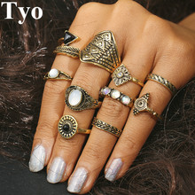Buy TYO Brand 20 Style Rings Set Chooses Boho Beach Vintage Punk Knuckle Ring Women Fashion Charm Finger Jewelry Gift Girl for $1.39 in AliExpress store