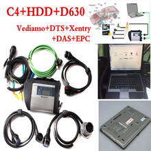 High Level New Mercedes Star Compact Diagnose MB Star C4 Connect WIFI SD With 2017.07v HDD DTS/Vediamo With D630 Laptop 4G SD C4