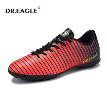 DR.EAGLE Indoor TF men turf soccer shoe cleats futzalki original superfly futsal professional leather shoes football boots(China)