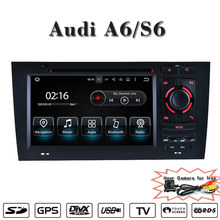 Support Carplay Anti-Glare android car navigtion system for audi A6 S6 android navigation wifi connection,3g internet(China)