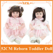 Wholesale 20'' Hot Style Lifelike Reborn Toddler Dolls With Unique Design 20'' Doll Clothes Merry Christmas Best Gift / Doll Toy(China)