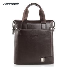 Ferricos Brand  Genuine Leather Men Bags Fashion Male Messenger Bags Men's Small Briefcase Man Casual Crossbody Shoulder Handbag