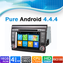 Pure Android 4.4.4 System Car DVD GPS Car DVD Player Autoradio For Fiat BRAVO 2007-2012(China)