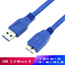 0.3M-5.0M USB 3.0 Male A to Micro B Cable Cord Adapter Converter For External Hard Drive Disk HDD High Speed