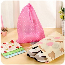 3 * Travel Laundry Shoe Pouch Portable Tote Drawstring Storage Bag Organizer