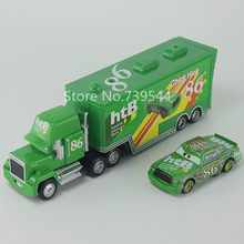 Pixar Cars No.86 Chick Hicks & Mack Truck Diecast Toy Car For Children 1:55 Loose Brand New In Stock