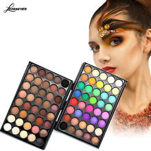 Matte pearl earth color small eye shadow 40 color eye shadow magic eye plate of lasting makeup M02690(China)