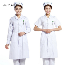 Summer Nurse Uniform Hospital Medical Scrub Set Workwear Clothes Women Surgical Scrubs Long Coat Ladies Solid Medical Uniform(China)