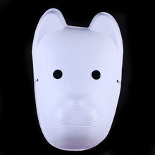 Cat DIY Blank Unpainted Party Mask White Paper Pulp Environmental Fine Art Painting Programs Masquerade Full Face Masks 10pcs(China)