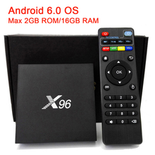 2016 New X96 Android 6.0 TV Box Amlogic S905X Quad Core Max 2GB/16GB WIFI 4K 1080P HD Smart Media Player PK A95X Set-top Box