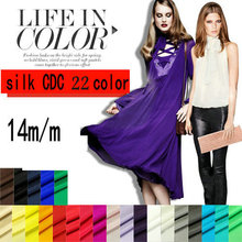 23 COLOR 14MM width 114CM Pure Silk Crepe De Chine Fabric  for  2015 silk dress
