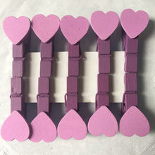 40x Lavender Wedding / Wedding Clothespin Place Card Holder / Bridal Shower Decor / Bridal Shower Favor / Purple / Heart Decor