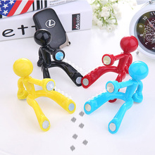 Creative Mini Characters Wall Hook Cartoon Magnet Magnetic movable Fridge Stickers Key Hanger Bag Purse Hooks Hot Seller