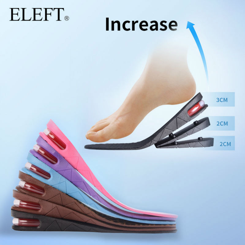 ElEFT Elevator Sports Shoes pad pads inserts insoles comfortable Breathable deodorization height increase Growth Full Length 6cm<br><br>Aliexpress