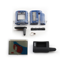 2016 MA case keychain + LCD display + Silicone Case for scher-khan magicar A Lcd remote controller auto alarm