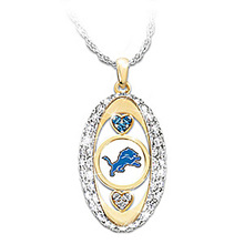 Detroit Lions Pride oval Pendant championship Necklace drop shipping team logo jewelry best gift for girl friend(China)
