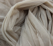 Tan Skin Nude 160cm width Eugen organza tulle fabric for wedding bridal dress, veil,cloth,curtain,backdrop,ball gown