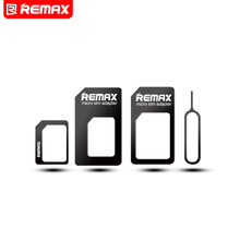 Remax 4 in 1 Mobile Phone Nano SIM Card Micro Standard SIM Card Adapter SIM Card Tool Set Eject Pin For iOS Android Retail Box