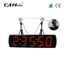 [Ganx]5'' 5 digits Led racing timer track / lap timer wall clock with laser induction(China)