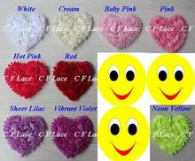 "Free USA ePacket/CPAP 10y/100pcs 20 colors 3"" Chiffon Rosette Hearts,Shabby Chic Chiffon Heart Appliques,Hair Accessories"