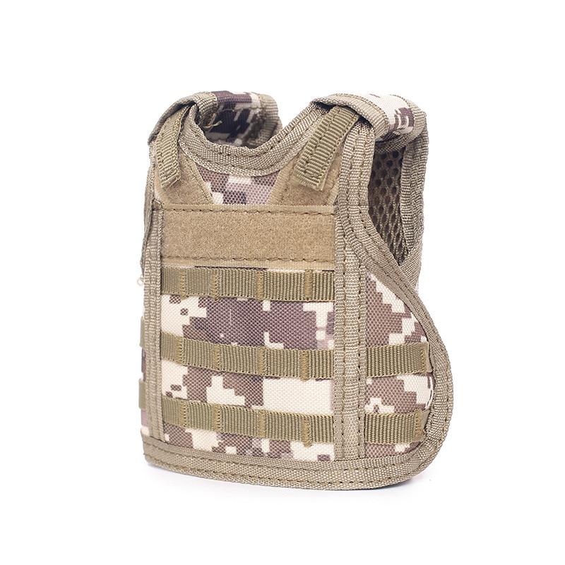 Independent Tactical Beer Military Molle Vest Mini Miniature Wine Bottle Cover Vest Beverage Cooler Adjustable Shoulder Straps Hiking Clothings
