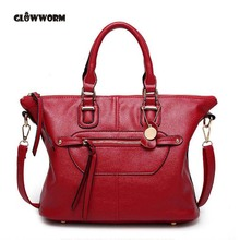 GLOWWORM Women Bag Pu Leather Tote Brand Name Bag Ladies Handbag Lady Evening Bags Solid Female Messenger Bag Travel Fashion Sac
