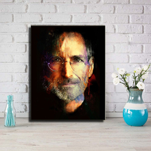 Unframed Steve Jobs Great Man Canvas Art Print Painting Poster Wall Art Picture For Commemorate Study Room Home Decoration L831(China)