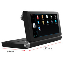 "Car Dual Camera Rear View T18 WIFI 7"" HD 1080P DVR Recorder With GPS Navigator Built-in Mic And Speaker Support FM TF"