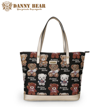 DANNY BEAR Fashion Women Handbags Name Brand Designers Ladies Large Tote Bags Vintage Shoulder Bag Female Shopping Bags Handbag(China)