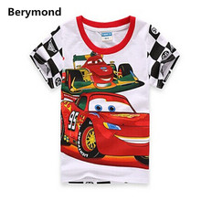 Baby Boys Summer Casual T Shirt Short Sleeve Cartoon T-shirt Kids Top Tee Clothes Children Fashion Cars Shirt Boys Clothes