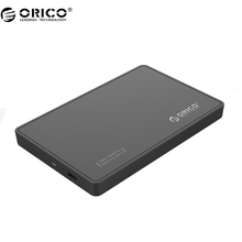 ORICO 2588C3 2.5 inch Type-C Hard Drive Enclosure USB 3.1 5Gbps Support UASP - Black(China)